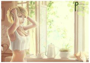 Rating: Safe Score: 201 Tags: animal blonde_hair cat green_eyes original realistic s.g summer User: HawthorneKitty