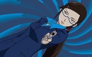 Rating: Safe Score: 14 Tags: blue darker_than_black gun kirihara_misaki weapon User: Oyashiro-sama