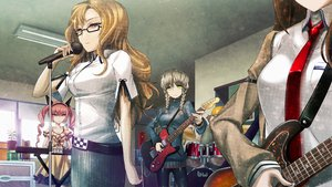 Rating: Safe Score: 38 Tags: amane_suzuha blonde_hair brown_hair dress faris_nyannyan game_cg gray_hair guitar hashida_itaru huke instrument kiryuu_moeka long_hair makise_kurisu pink_hair skirt steins;gate tie twintails User: Tensa
