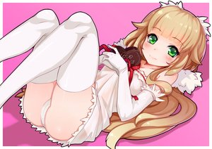 Rating: Questionable Score: 42 Tags: ass blonde_hair blush cameltoe candy chocolate elbow_gloves gloves green_eyes long_hair nerv110 original panties ribbons thighhighs underwear valentine User: RyuZU