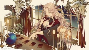 Rating: Safe Score: 34 Tags: animal_ears arknights blonde_hair breasts cleavage gitano_(arknights) logo long_hair polychromatic tokima_yori User: Nepcoheart
