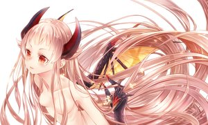 Rating: Questionable Score: 108 Tags: 218 blush elysion horns long_hair nude pink_hair red_eyes wings User: FormX