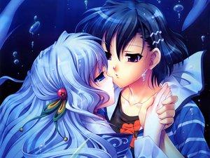 Rating: Safe Score: 18 Tags: aoi_shiro japanese_clothes kimono nami_(aoi_shiro) osanai_shouko shoujo_ai underwater water User: jjjjjhhhhh