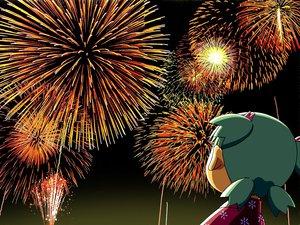 Rating: Safe Score: 13 Tags: azuma_kiyohiko fireworks koiwai_yotsuba yotsubato! User: Oyashiro-sama