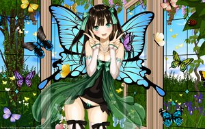 Rating: Questionable Score: 279 Tags: aqua_eyes black_hair bow butterfly cleavage long_hair panties taka_tony thighhighs underwear vector wings User: gnarf1975