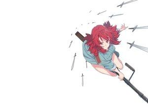 Rating: Safe Score: 62 Tags: gun izetta red_eyes red_hair ribbons short_hair shuumatsu_no_izetta supernew sword uniform weapon white witch User: Hakha