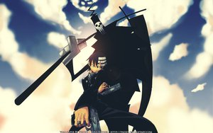 Rating: Questionable Score: 56 Tags: death_the_kid scythe shinigami signed soul_eater weapon User: setone