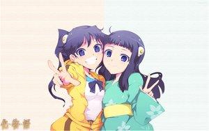 Rating: Safe Score: 28 Tags: 2girls araragi_karen araragi_tsukihi bakemonogatari bow japanese_clothes monogatari_(series) nisemonogatari shorts tagme_(artist) twins User: RyuZU