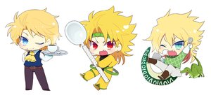 Rating: Safe Score: 15 Tags: all_male animal aqua_eyes blonde_hair boots chibi diego_brando dio_brando drink fang headband jojo_no_kimyou_na_bouken male red_eyes short_hair tagme_(artist) tail waifu2x wink User: otaku_emmy