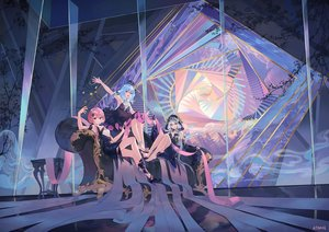 Rating: Safe Score: 73 Tags: aqua_eyes aqua_hair atdan blue_hair chiyu_(synthv) couch dress gloves haiyi hoodie long_hair orange_eyes pink_hair red_eyes short_hair signed stairs synthesizer_v twintails vocaloid xingchen User: otaku_emmy