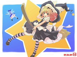 Rating: Safe Score: 8 Tags: cirno kirisame_marisa thighhighs touhou User: rargy