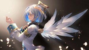 Rating: Safe Score: 46 Tags: amane_kanata angel gradient gray_hair hololive ohkuro_marimo short_hair wings User: RyuZU