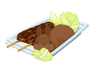 Rating: Safe Score: 13 Tags: animal food lilac_(pfeasy) nobody original rabbit waifu2x white User: otaku_emmy
