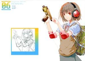 Rating: Questionable Score: 114 Tags: fuyuno_haruaki gun headphones original red_eyes school_uniform short_hair sketch weapon User: Wiresetc