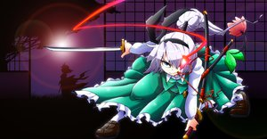 Rating: Safe Score: 17 Tags: aono3 katana konpaku_youmu saigyouji_yuyuko sword touhou weapon User: HawthorneKitty