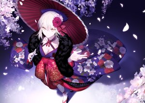 Rating: Safe Score: 107 Tags: artoria_pendragon_(all) breasts cleavage fate/grand_order fate_(series) fate/stay_night flowers japanese_clothes kimono saber saber_alter shinooji umbrella User: Dreista