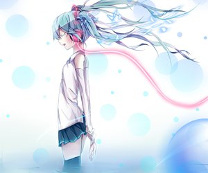Rating: Safe Score: 93 Tags: hatsune_miku headphones paparins thighhighs twintails vocaloid User: Wiresetc