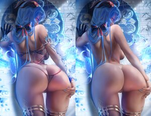 Rating: Explicit Score: 242 Tags: ass ass_grab blue_hair breasts cropped ganyu_(genshin_impact) genshin_impact horns long_hair nude panties pussy realistic sakimichan thighhighs uncensored underwear User: BattlequeenYume