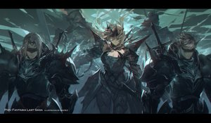 Rating: Safe Score: 55 Tags: armor blindfold gray_hair male original pixiv_fantasia short_hair swd3e2 sword watermark weapon User: RyuZU