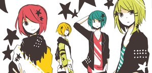 Rating: Safe Score: 28 Tags: genderswap gumiya hatsune_mikuo kagamine_rinto male megurine_luki short_hair stars uni_(kokoromikun) vocaloid white User: MissBMoon