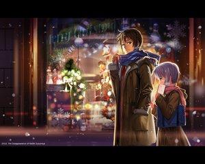 Rating: Safe Score: 171 Tags: alphonse book brown_eyes brown_hair christmas kyon nagato_yuki scarf short_hair snow suzumiya_haruhi_no_yuutsu tie User: HawthorneKitty