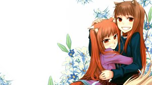 Rating: Safe Score: 88 Tags: 2girls animal_ears ayakura_juu brown_hair flowers horo koume_keito long_hair orange_hair red_eyes spice_and_wolf white wolfgirl User: grudzioh