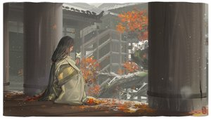Rating: Safe Score: 112 Tags: alphonse autumn black_hair building divine_child_of_rejuvenation food fruit japanese_clothes kimono leaves long_hair ponytail sekiro:_shadows_die_twice signed snow stairs User: ssagwp