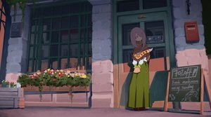 Rating: Safe Score: 51 Tags: flowers little_witch_academia long_hair pink_eyes purple_hair skirt sucy_manbavaran waterkuma User: RyuZU