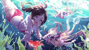 Rating: Safe Score: 41 Tags: aqua_eyes ass bikini blonde_hair brown_hair bubbles green_eyes ponytail shan-n swimsuit twintails underwater water User: mattiasc02