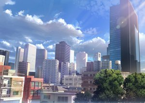 Rating: Safe Score: 79 Tags: building city clouds domo1220 landscape nobody original realistic scenic sky tree User: reyaes