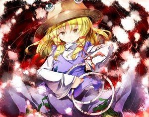 Rating: Safe Score: 32 Tags: animal blonde_hair dress frog hat moriya_suwako ribbons sugiyuu touhou yellow_eyes User: STORM