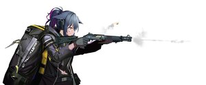 Rating: Safe Score: 56 Tags: animal_ears arknights blood blue_hair choker earmuffs gloves green_eyes gun hamachi_hazuki hoodie jessica_(arknights) navel ponytail torn_clothes weapon white User: Dreista