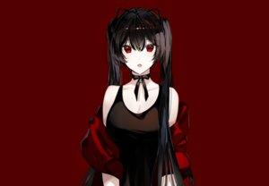 Rating: Safe Score: 72 Tags: aliasing bell black_hair choker fang long_hair naru_(ul) original red red_eyes ribbons twintails User: otaku_emmy