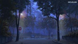 Rating: Safe Score: 50 Tags: mclelun night nobody original scenic stars tree watermark User: RyuZU