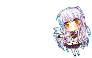 Rating: Safe Score: 23 Tags: angel_beats! chibi hamster_(artist) seifuku tachibana_kanade white wings User: SciFi