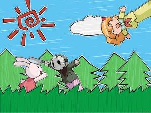 Rating: Safe Score: 7 Tags: bunny doll pani_poni_dash puppet shiratori_suzune User: Oyashiro-sama