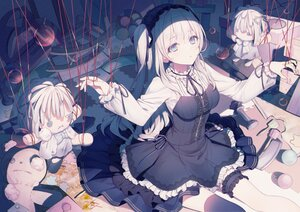 Rating: Safe Score: 118 Tags: a20_(atsumaru) aitsuki_nakuru blue_eyes bondage doll dress garter goth-loli gray_hair headband lolita_fashion long_hair thighhighs User: BattlequeenYume