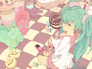 Rating: Safe Score: 43 Tags: aqua_eyes aqua_hair bloomers bow hatsune_miku ipod lots_of_laugh_(vocaloid) twintails vocaloid User: HawthorneKitty