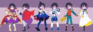 Rating: Safe Score: 21 Tags: all_male bell black_hair boots cape collar cosplay crown dangan-ronpa dress dualscreen elsword gloves male navel new_dangan-ronpa_v3 ouma_kokichi purple_eyes seifuku short_hair shorts tagme_(artist) tales_of_berseria thighhighs touhou trap waifu2x weapon wristwear User: otaku_emmy