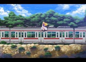 Rating: Safe Score: 59 Tags: blonde_hair boots dress hat long_hair purple_eyes ribbons ryouma_(galley) sky touhou train tree yakumo_yukari User: Tensa