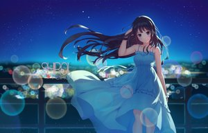Rating: Safe Score: 93 Tags: blue_eyes dress hibike!_euphonium kousaka_reina kurenaiz long_hair night stars summer_dress User: RyuZU