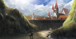 Rating: Safe Score: 58 Tags: animal bird building city hirokima horse landscape original scenic User: IchimaruSakai