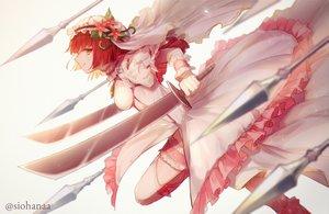 Rating: Safe Score: 37 Tags: dress garter megido72 orange_eyes red_hair shiobana spear sword watermark weapon zepar_(megido72) User: FormX