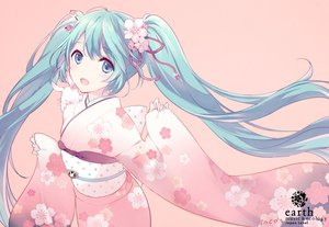 Rating: Safe Score: 161 Tags: animal blue_eyes blue_hair blush flowers hatsune_miku inco_(mini) japanese_clothes kimono long_hair rabbit vocaloid User: Maboroshi