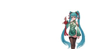 Rating: Safe Score: 146 Tags: aqua_hair blue_eyes chinese_clothes chinese_dress dress fkey hatsune_miku project_diva thighhighs vocaloid white world's_end_dancehall_(vocaloid) User: SciFi