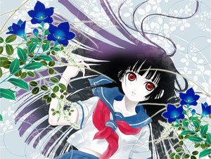 Rating: Safe Score: 11 Tags: enma_ai jigoku_shoujo User: HawthorneKitty