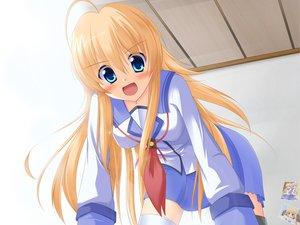 Rating: Safe Score: 40 Tags: angel_beats! blonde_hair blue_eyes irie_miyuki school_uniform sekine_shiori User: HawthorneKitty