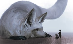 Rating: Safe Score: 34 Tags: animal arizuka_(13033303) fox original watermark User: sadodere-chan