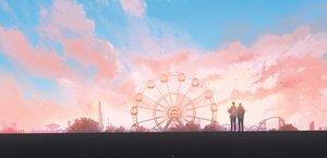 Rating: Safe Score: 57 Tags: all_male clouds hanasei male original scenic sky sunset User: FormX