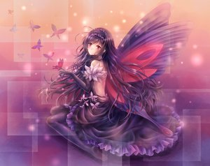 Rating: Questionable Score: 207 Tags: accel_world blush butterfly daphne_zhang dress elbow_gloves gloves kuro_yuki_hime long_hair purple_hair tagme wings User: yaya83